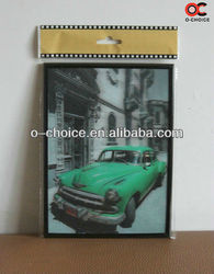 ZB-40 Popular Custom 3D Car Lenticular Picture PET 3D Wall Arts Pictures Paper Painting