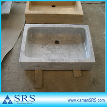square marble stone sink for bathroom