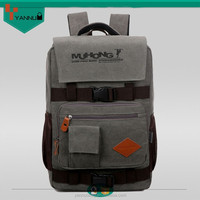 2015 new fashion cool vintage large capacity military style multi-function canvas backpack laptop computer bag outdoor