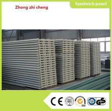 PU roof sandwich panel installation prefab concrete houses