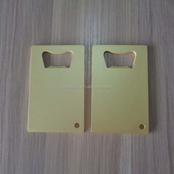 Fashion blank matte gold/copper business card sized beer bottle opener