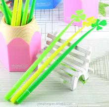 New clover rubber gel ink pen for promotion