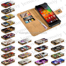 "2015 New Original Printing PU Leather Wallet Flip Stand & Card Slots Cover 5"" Universal Smartphone Case For Highscreen Thor"