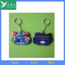 Cheap plastic Reflective Keychain Hanger For Promotion