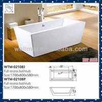 cheap freestanding rectangular vertical acrylic bathtub