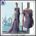 pp0220 lace top cap manga longa chiffon vestidos de noite feito em china