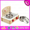 Newest design kids cooking play wooden toy kitchen play set for children pretend play W10C159