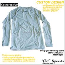 Custom made performance sports training Long sleeve Base Layer Compression Shirts