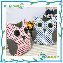 hi sprout baby funny owl pillow