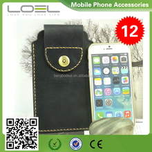 Portable customized genuine leather bag for iphone 6/plus BO-CPI6001(2)