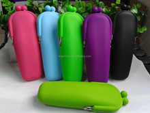 2015 new product Hots selling solf Silicone mobile phone bag, pen case, chage purse