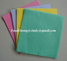 Multi-purpose super water and oil absorbent needle punched nonwoven household wiping cloth