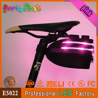 New design bike saddle bag pannier with led light