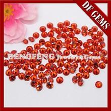 Round Brilliant Cut Synthetic Orange Cubic Zirconia Gemstone