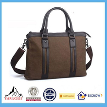 Men Vintage Canvas Laptop Bag School Satchel Messenger Military Shoulder Leather Bag