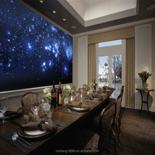 Living in the outer space is cool plastic wall murals home star decoration style