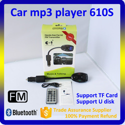 New product 610S Car MP3 player Bluetooth car kit handsfree FM transmitter modulator