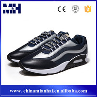 Latest fashion mens leather sneaker lace up running sport shoes men