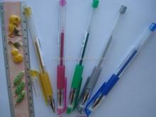Hot sales rainbow color glitter gel pen for promotion