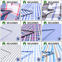 Mulinsen Textile High Quality Plain Woven Chambray Stripe and Plaid Cotton Yarn Dyed Fabric for Casual Shirting