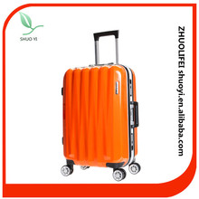 Colorful urban aluminum frame pc abs travel luggage