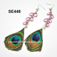 Peacock feather earrings peacock feather party supplies