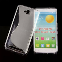 tpu back case for Alcate One touch Flash OT-6042D protective case