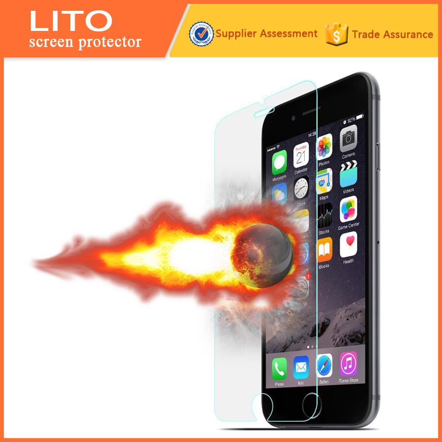 Precio al por mayor! Protector de la pantalla para el iphone lito 6 más accesorios celular cristal protector