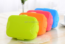 Sugar color High quality and Durable transparency plastic lunch box with compartments