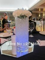Dancing party flame LED pillar wax candle light