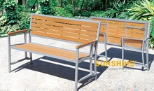 Perfect plastic chair outdoor wpc chair for park FCO-P31