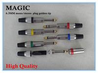 wholesale high quality 6.35MM mono plug golden tip connectors