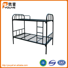 Special design space saving solid metal frame kids bunk bed with crib under