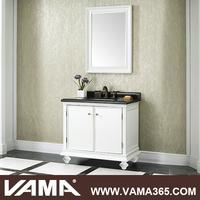 VAMA 36 Inch Single Vanity with Black Marble Top Foshan Bathroom Vanity