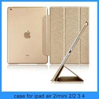 For ipad air 2 case Folio Luxury Slim Smart Wake Leather Cover for iPad air 2 3 4 5 mini1 2(PT-IP6201)