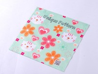 Custom microfiber lens cleaning cloth with transfer printing (XY-00181)
