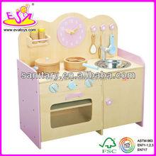 2015 nuevo juguete de madera utensilios de cocina, Los niños populares utensilios de cocina de juguete, Caliente venta de madera de juguete utensilios de cocina W10C009