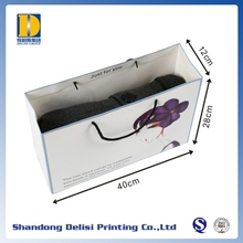 Made in China Best Price White Apparel Paper Bags Packaging with Logo