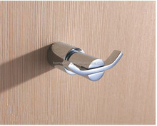 Round Series Chrome Brass Made Decorative Coat Robe Double Hook