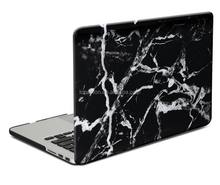 Hard Case Print Frosted for MacBook Pro 13 inch Black/ White Marble Pattern Rubber Coated Hard Shell Case Cover
