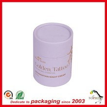 trendy beautiful custom cardboard cylinder cosmetic paper tube packing for skin care products