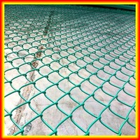 PVC Coated Chain link Fence / Electric Galvanized Cheap Chain Link Fence Panels