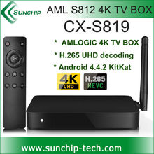 Best Amlogic S812 Quad Core Google Android 4.4 Android Tv Box S819 2GB/16GB Kodi Bluetooth Dual-band Wifi 4k 2k support