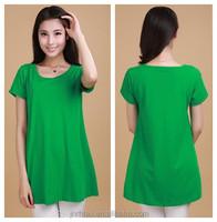 High quality tall plain t-shirt and 100% cotton woman t shirt wholesale