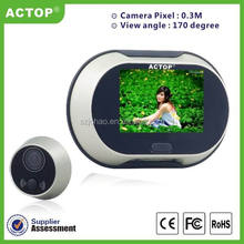 2015 ACTOP 3.5 inch TFT LCD Screen digital peephole viewer/door bell