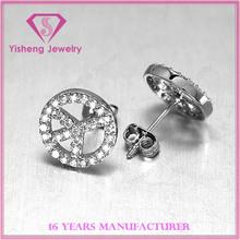Sterling 925 Silver CZ stones Ladies earring diamond