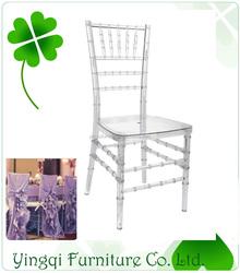 Wedding Colorful Transparent Clear Resin Chiavari Chair