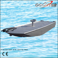 A-type aluminum fishing boat with casting deck