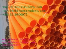 plastic corrugated pipe machine newly plastic extruder machine for plastic pe pvc pipes manufacture