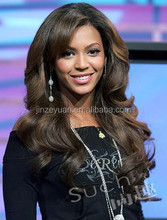 shandong Stock!!120-150 density 100% virgin peruvian human hair Middle part celebrity beyonce wigs for black women in stock
